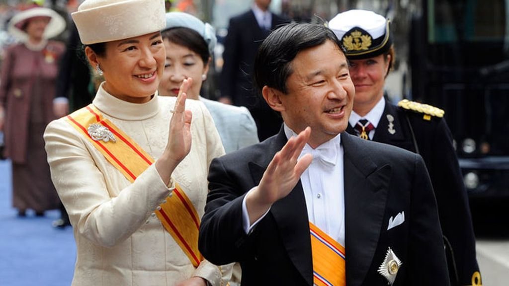 Los príncipes herederos de Japón, Naruhito y Masako