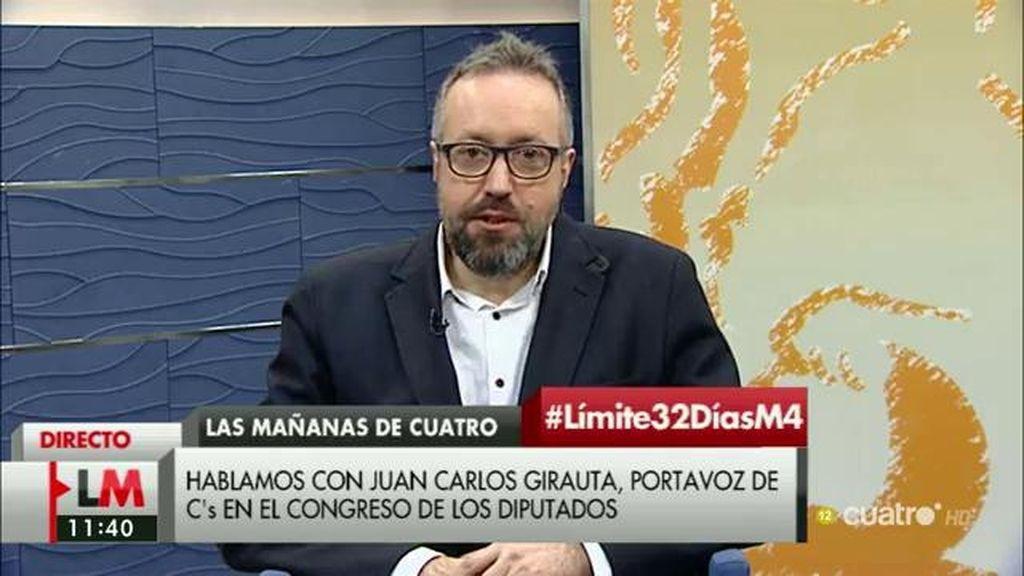 """Girauta: """"¿Qué cesión ha hecho Iglesias, decir que renuncia a ser vicepresidente que es algo que se había arrogado él?"""""""
