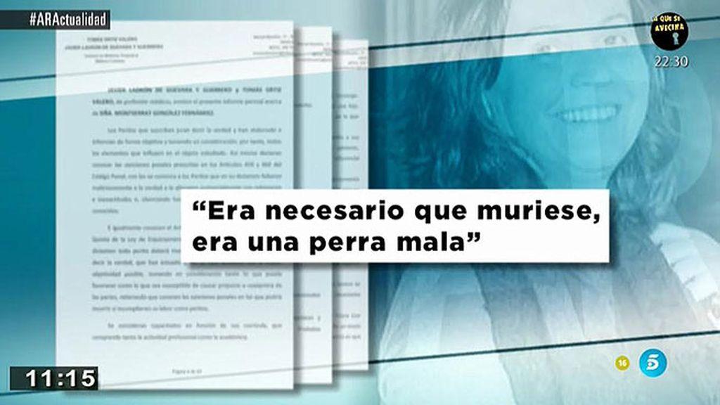 """Montserrat González: """"Era necesario que Carrasco muriese, era una perra mala"""""""