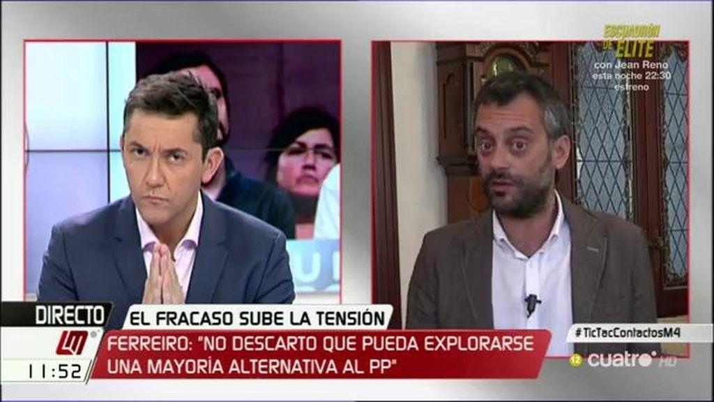 """Xulio Ferreiro: """"No descarto que pueda explorarse una mayoría alternativa al PP"""""""