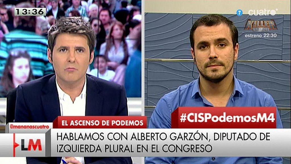 """A. Garzón, sobre una hipotética lista IU – Podemos: """"No lo descarto pero no soy quién para saber lo que ocurrirá"""""""