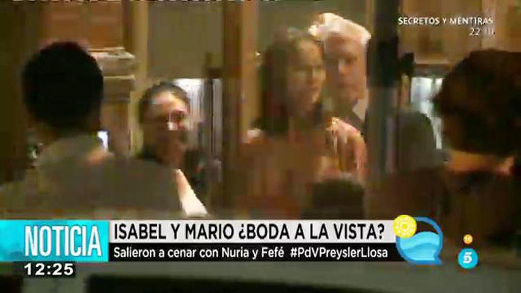 Isabel Preysler y Mario Vargas Llosa, de cena con Fernández Tapias y su mujer