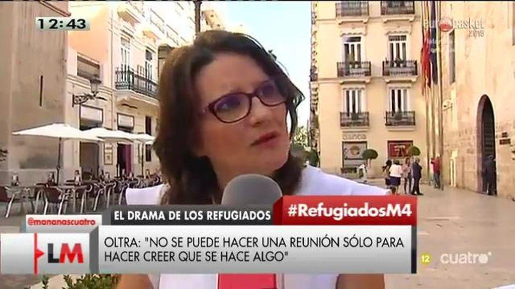 """Mónica Oltra: """"Mientras aquí hay una gran retórica para hacerse la foto, los niños se siguen ahogando"""""""