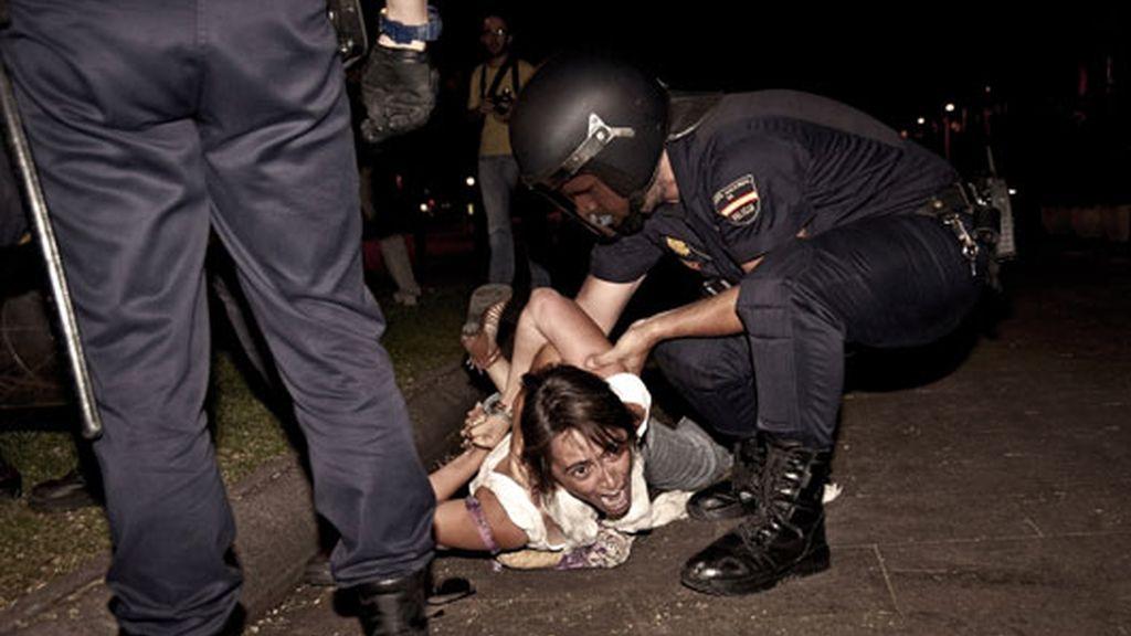 Una de las detenidas