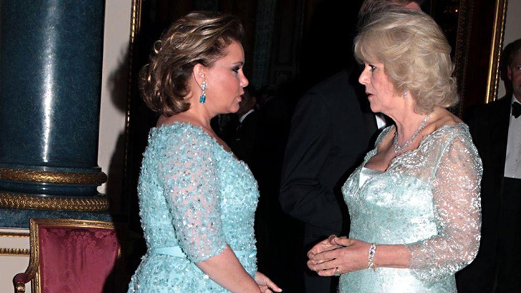 Teresa de Luxemburgo, con Camilla, duquesa de Cornualles