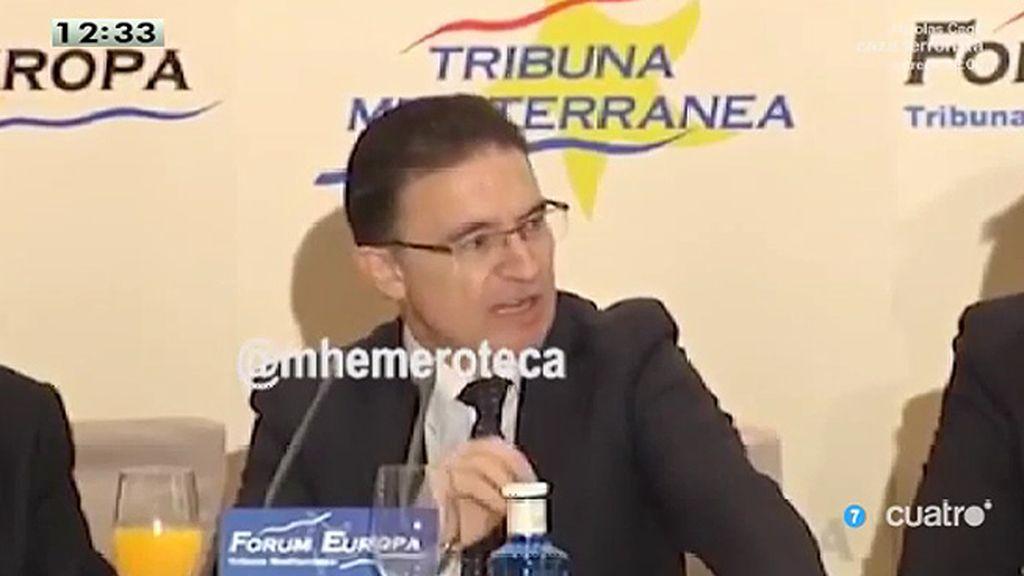 El delegado del Gobierno en  Valencia detenido defendía el compromiso del PP contra la corrupción