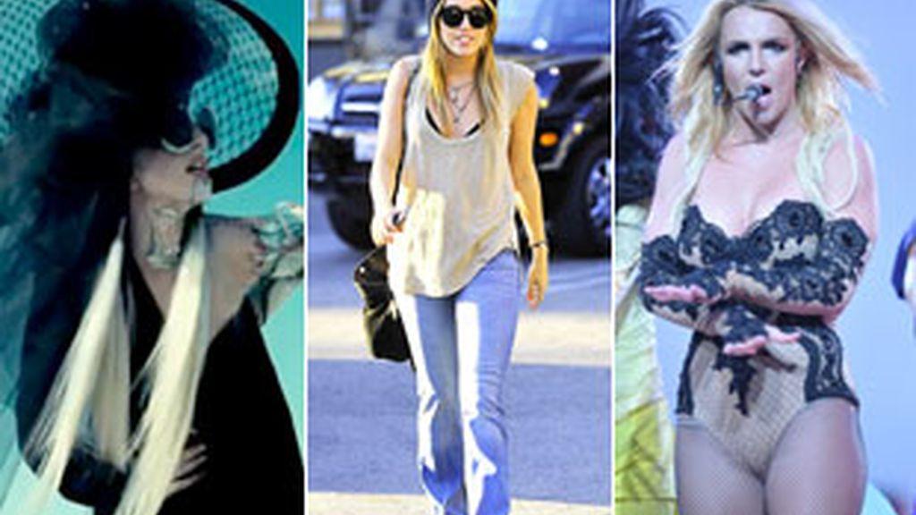 Lady Gaga, Miley Cyrus y Britney Spears, las más ricas. Fotos: Gtres