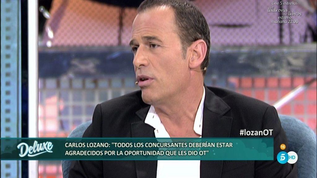 """Carlos Lozano: """"Los chicos de 'OT' deberían ser agradecidos con el programa"""""""