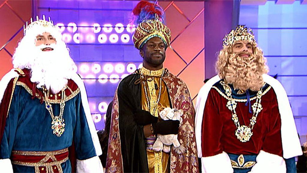 Manu, Cristian y Dosel, los Reyes Majos