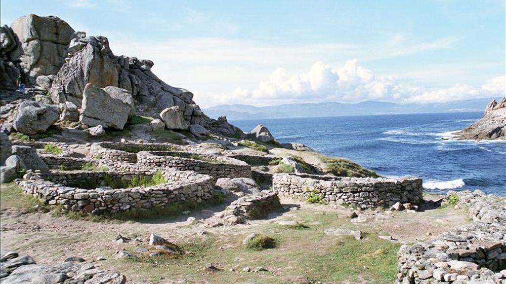 Vista parcial del Castro de Baroña. EFE/Archivo