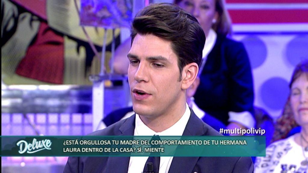 """Diego Matamoros: """"Mi madre no está orgullosa del comportamiento de Laura"""""""