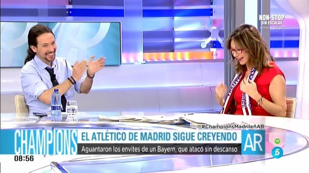 """Pablo Iglesias: """"Este Atleti enamora"""""""