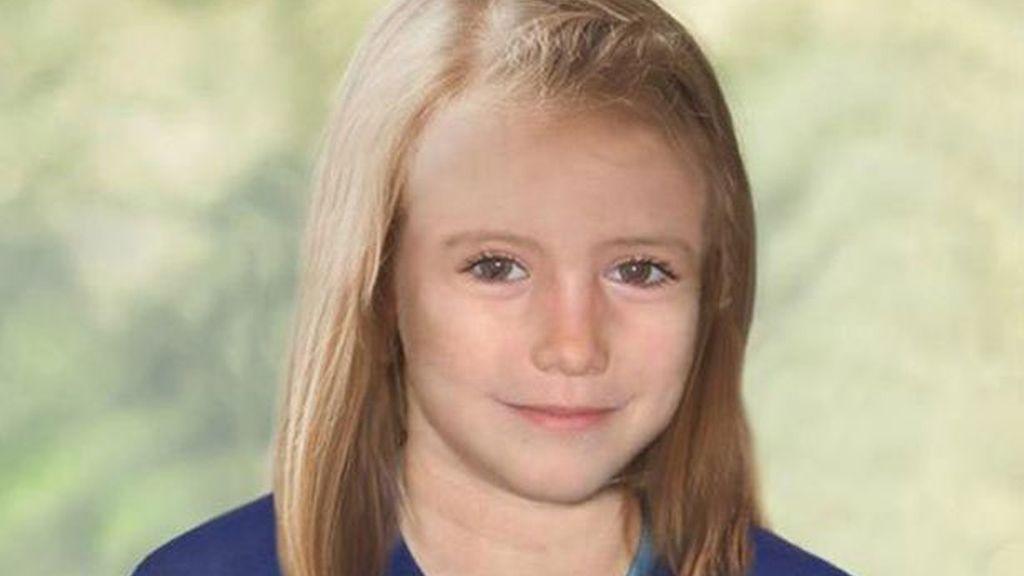 Maddeleine sería así con ocho años, cinco después de su desaparición