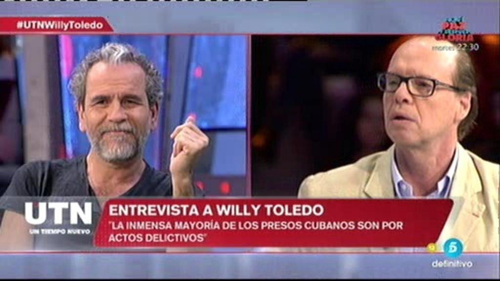 Willy Toledo y Jaime González se enfrentan por el encarcelamiento de Otegi