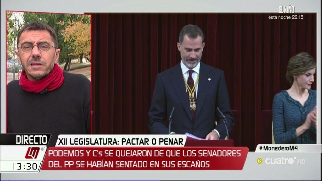 """Monedero: """"La crisis de gobernabilidad no se resuelve con el teatro del besamanos"""""""