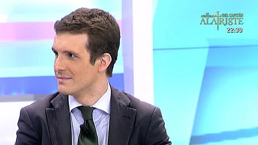 """Pablo Casado, portavoz de campaña del PP: """"Aznar es generoso con el partido y va a estar en la campaña"""""""