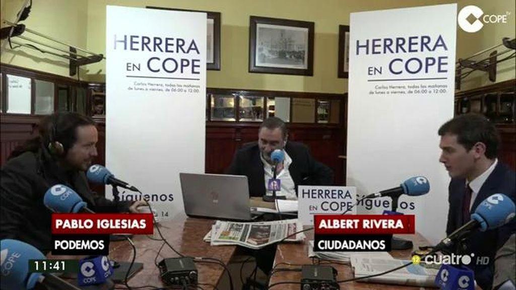 Iglesias y Rivera se enzarzan en un duro debate por el pacto del Congreso