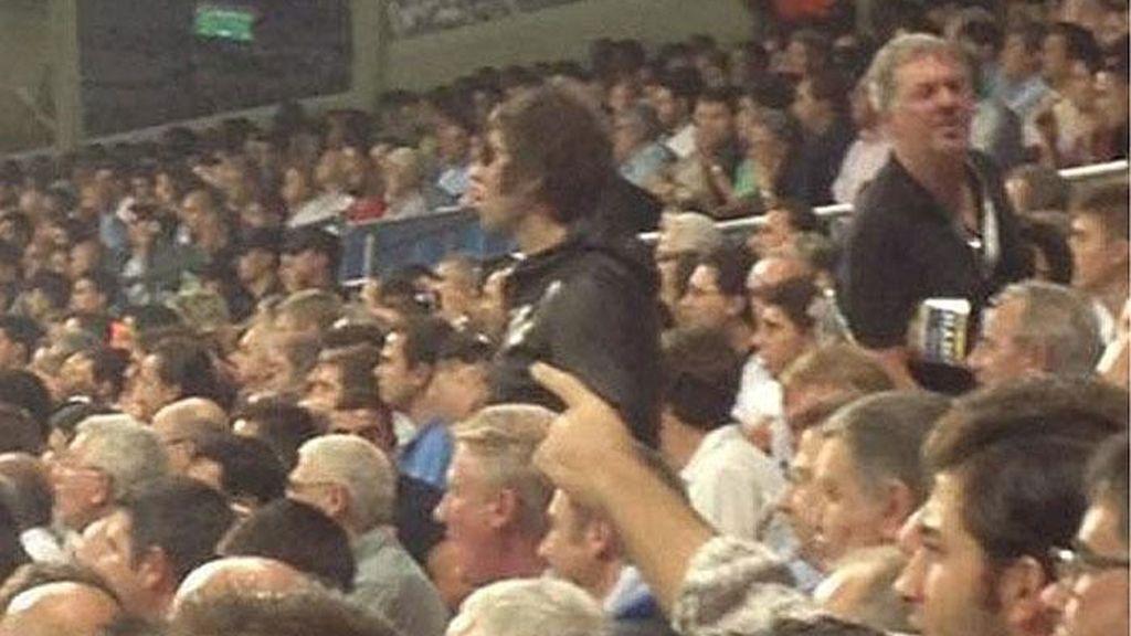 Liam Gallagher durante el encuentro entre el Manchester City y el Real Madrid