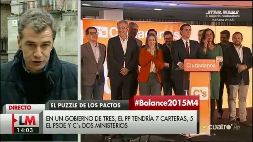 """Toni Cantó: """"PP, PSOE y Ciudadanos deberían ponerse de acuerdo"""""""