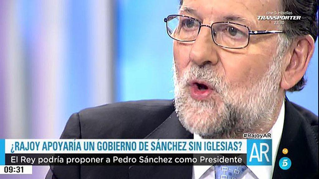 """Rajoy, sobre Sánchez: """"Respeto que no me quiera ver, pero por hablar no se pierde nada"""""""