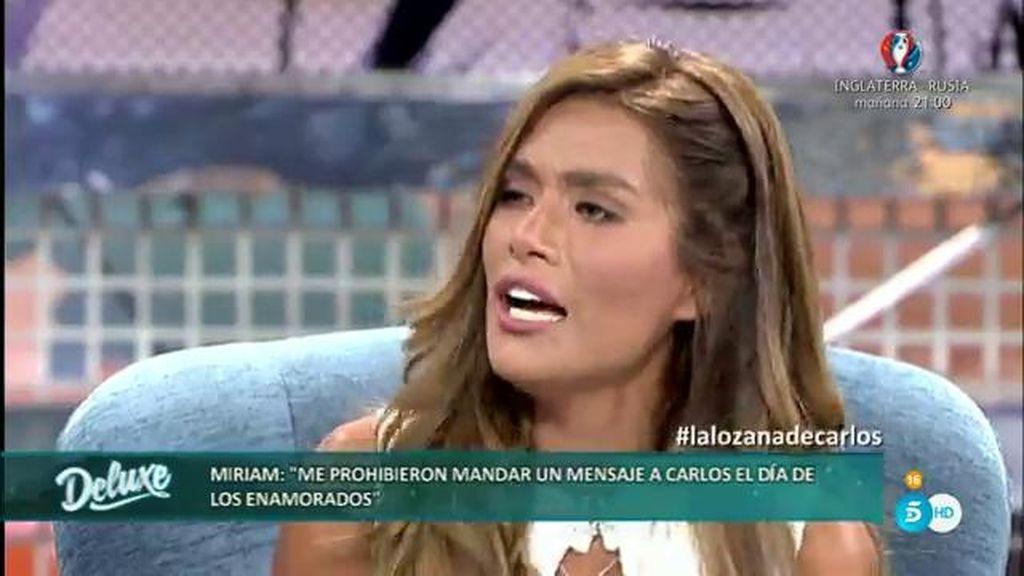 Miriam Saavedra explica quiénes le impedían mandar saludos a Carlos en 'GH VIP'