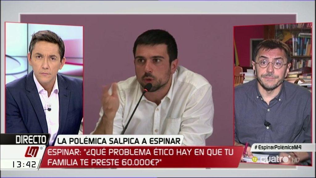 """Monedero, de las acusaciones a Espinar: """"Esto es una jodida vergüenza"""""""