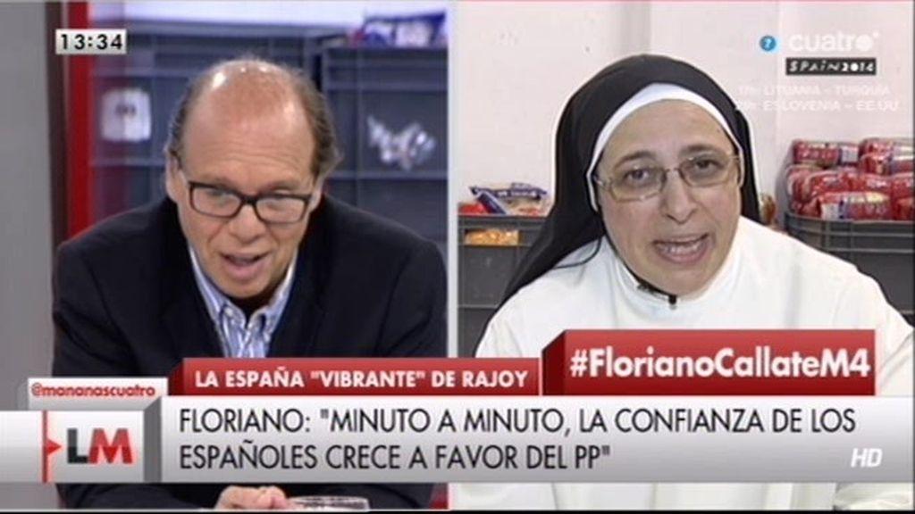 "Sor Lucía: ""Floriano es el idiota útil del Partido Popular"""