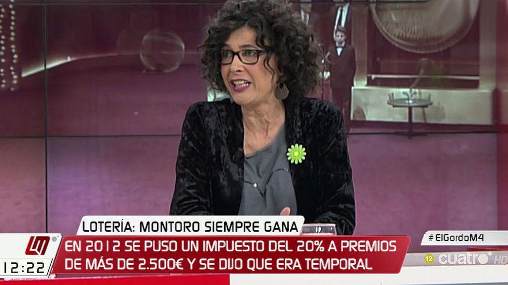 """Cristina de la Hoz: """"La Lotería es el gran negocio del Estado, nunca tiene pérdidas"""""""