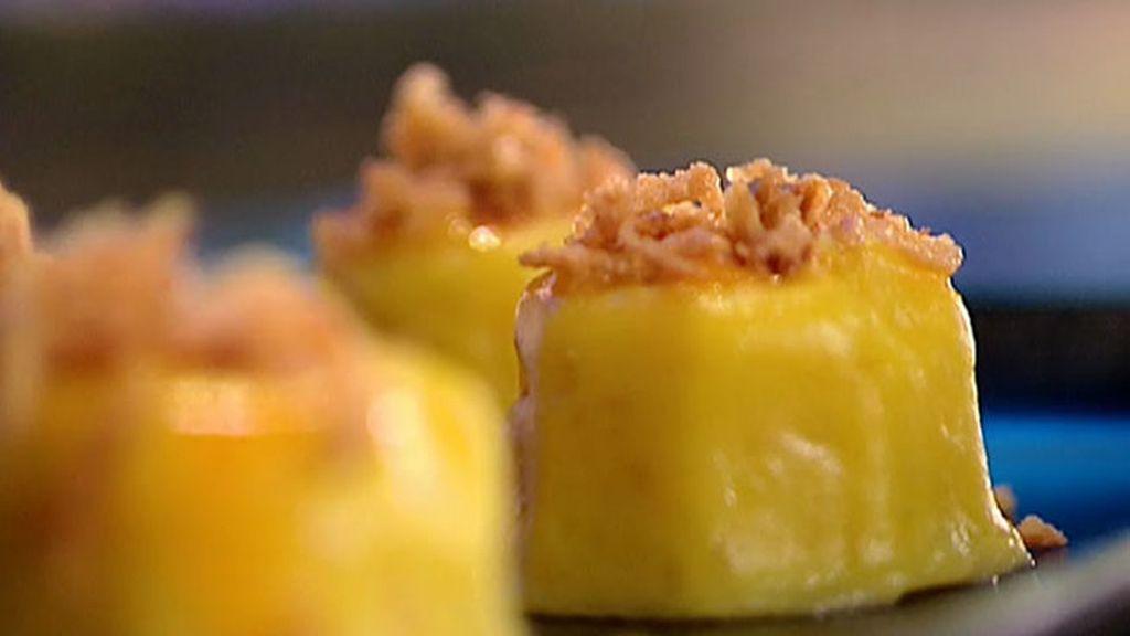 La receta de Mario Sandoval en Vitoria-Gasteiz : Flan de tortilla de patatas