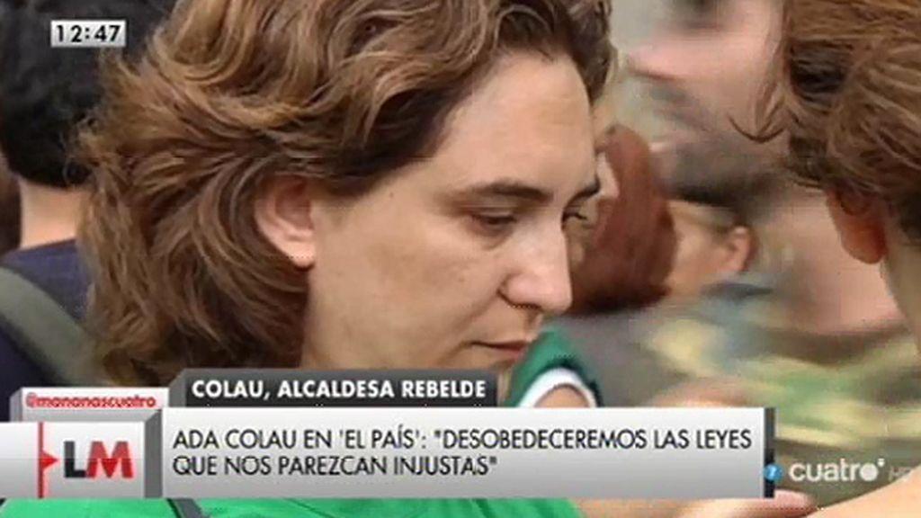 """Ada Colau: """"Desobedeceremos las leyes que nos parezcan injustas"""""""