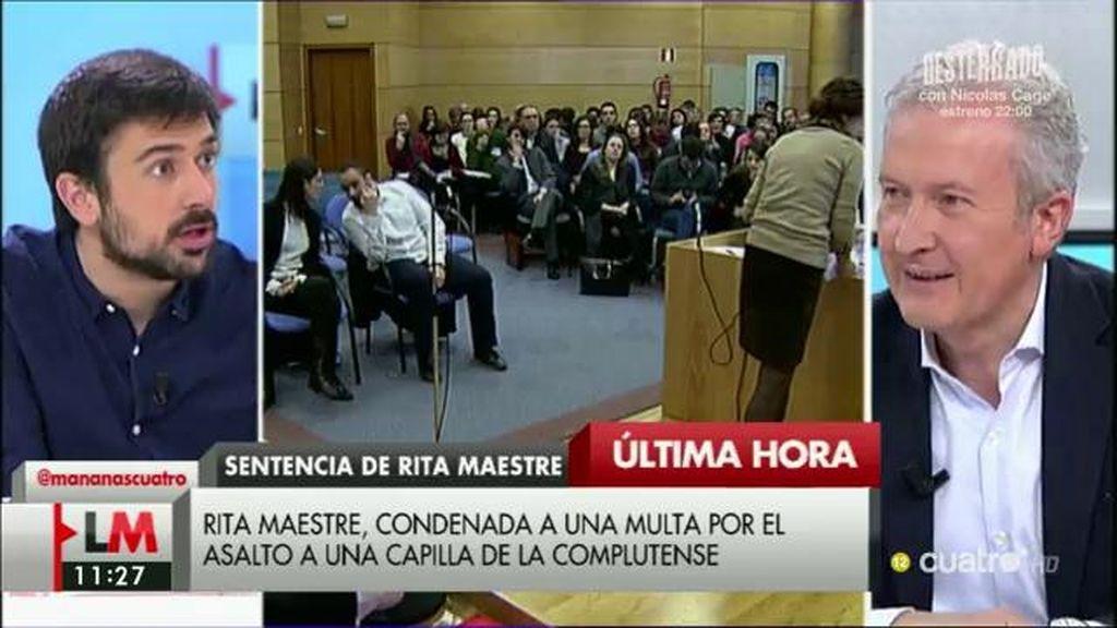 """Espinar, de Rita Maestre: """"No tiene que dimitir, es una acción pacífica multada pero que no constituye corrupción"""""""