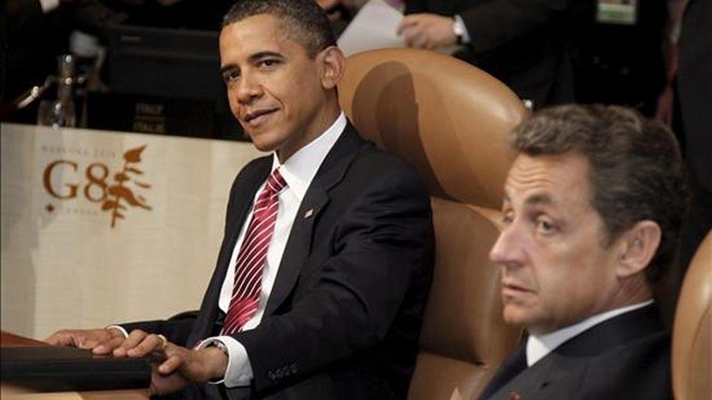 Sarkozy, que llega procedente de las islas de Guadalupe y Martinica, abordará con Obama las prioridades para la presidencia francesa del G8 -los países más industrializados- y el G20, las principales economías del mundo, a lo largo de este año. EFE/Archivo