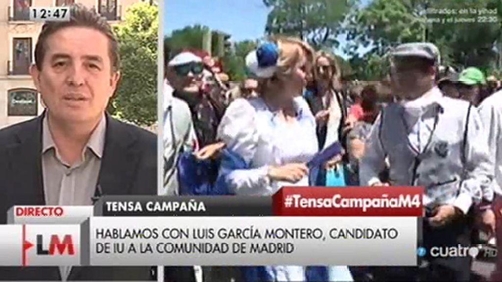 """Luis García Montero: """"No podemos aceptar que Madrid esté siempre del lado de la corrupción"""""""