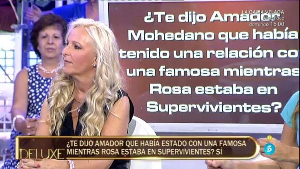 El 'Poli' lo confirma…Amador estuvo con una famosa mientras Rosa estaba en 'SV'