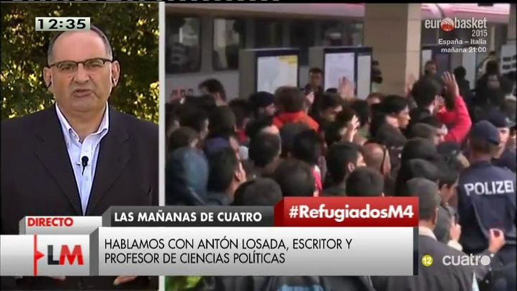 """Antón Losada: """"Lo de Rajoy y los refugiados no es una rectificación, sino una derrota"""""""