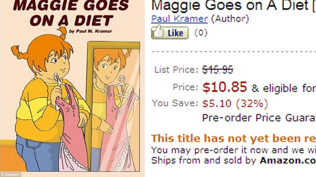 Portada del libro 'Maggie se pone a dieta'. Foto: Amazon.
