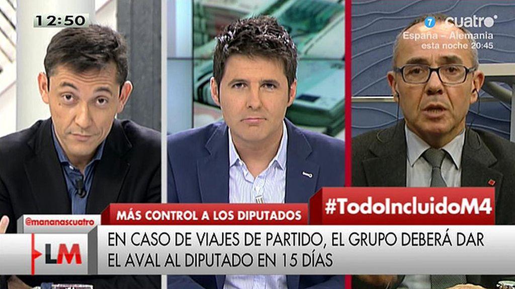 """Javier Ruiz, a Coscubiela: """"¿Por qué nosotros tenemos que pagar sus actos de partido?"""""""