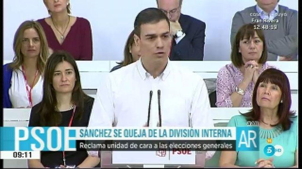 Pedro Sánchez pide a su compañeros unidad dentro del partido y confianza en él