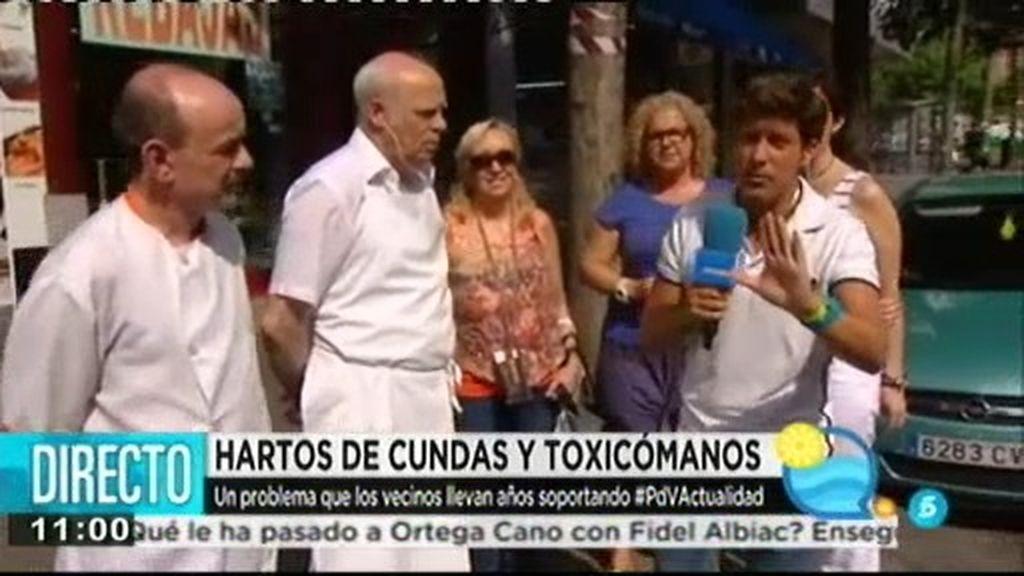 Los vecinos de Embajadores y la Cañada Real, hartos de cundas y toxicómanos
