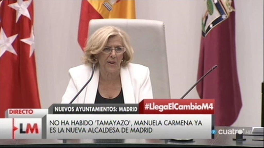 Llegó el cambio a la capital: Manuela Carmena ya es la nueva alcaldesa de Madrid