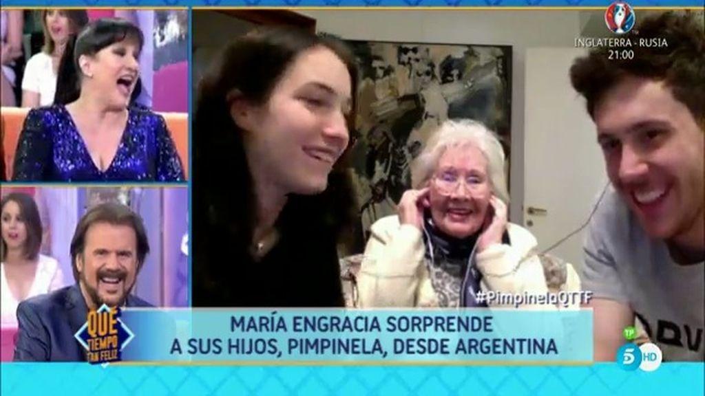 'Pimpinela' recibe una videollamada sorpresa de su madre y sus hijos