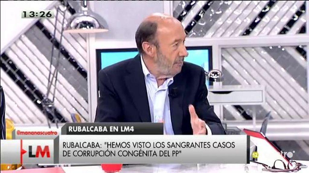 """Alfredeo Pérez Rubalcaba: """"Púnica es un sistema de corrupción generalizado"""""""