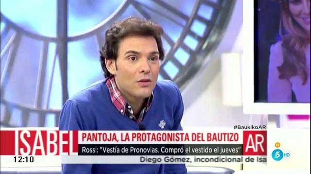 """Rossi: """"Isabel Pantoja llevó un traje de Pronovias valorado en 700 euros"""""""