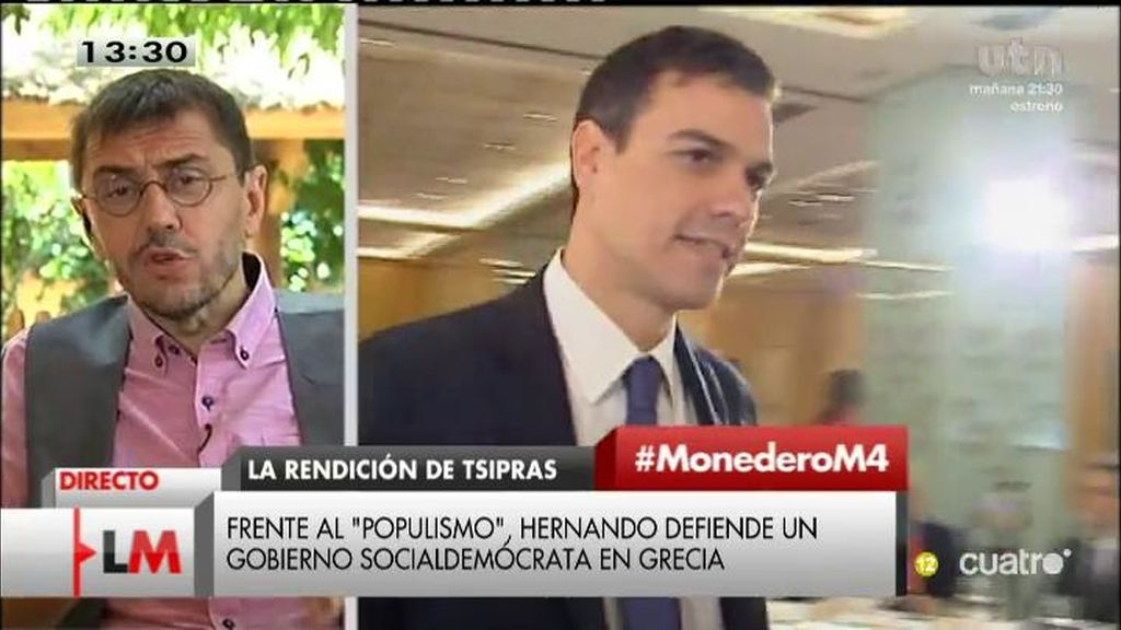 """Monedero: """"El PSOE en la oposición es como un yonki con síndrome de abstinencia"""""""