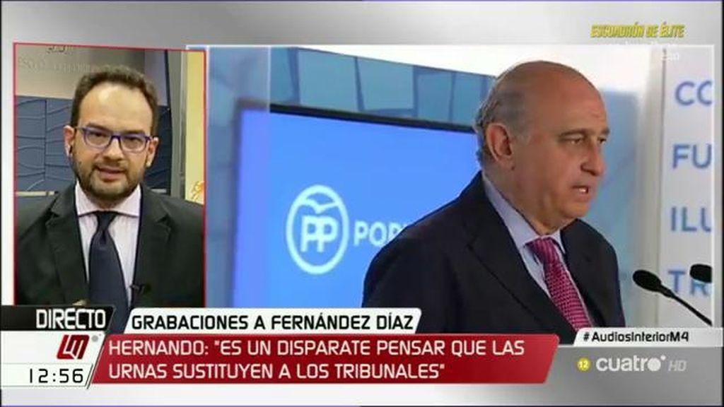 """Antonio Hernando: """"Fernández Díaz tendrá que dar explicaciones y tendría que darlas desde casa, no como ministro"""""""