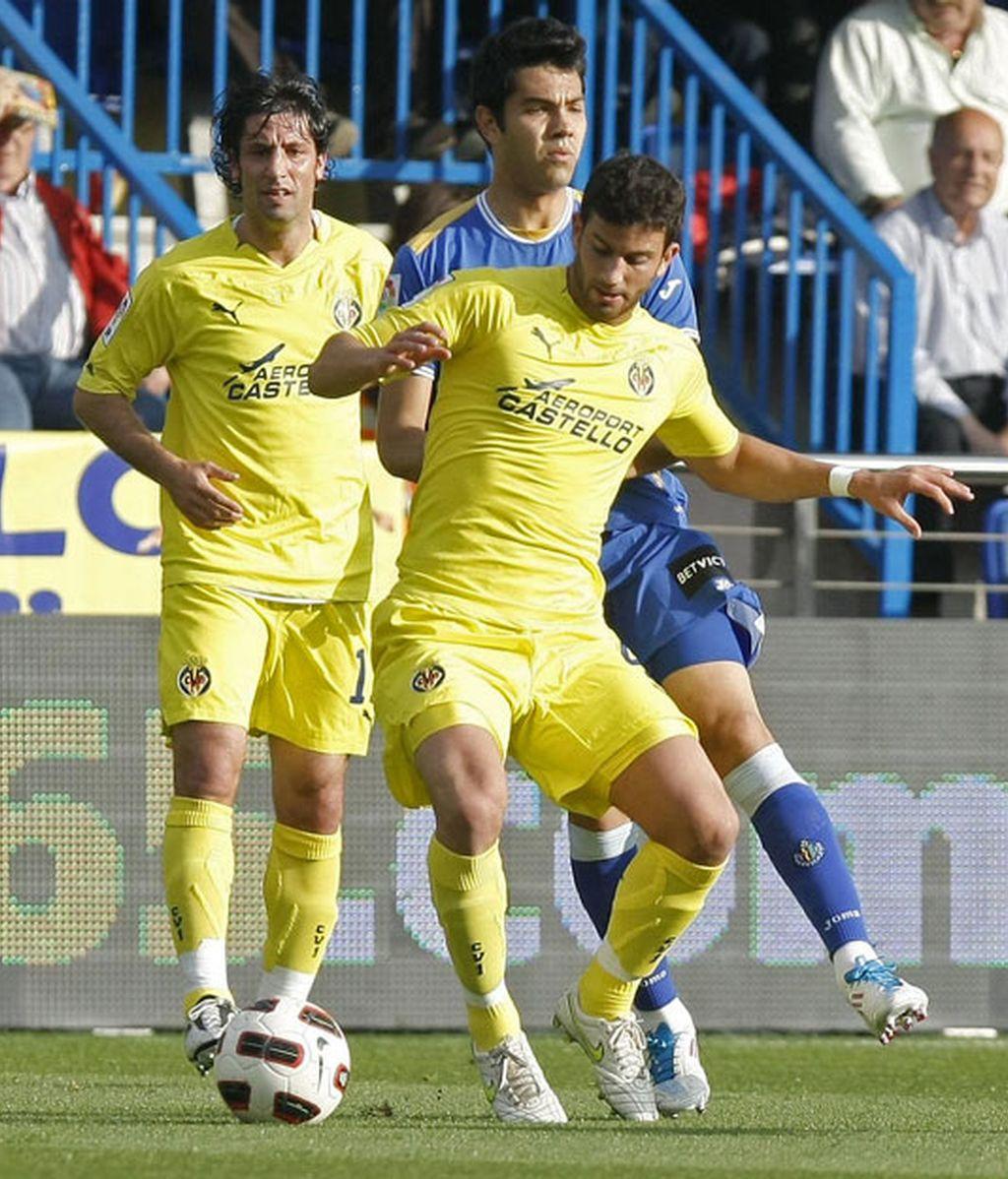 El Villarreal tuvo que emplearse a fondo para remontar ante el Getafe. Foto: EFE