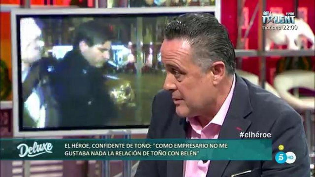 """'Héroe', ex confidente de Toño Sanchís: """"Yo creo que no quiere a Belén Esteban"""""""
