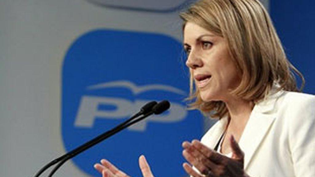Imagen de archivo de la secretaria general del PP, María Dolores de Cospedal. Foto: EFE.