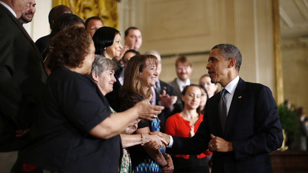 Barack Obama durante la rueda de prensa ofrecida en la Casa Blanca