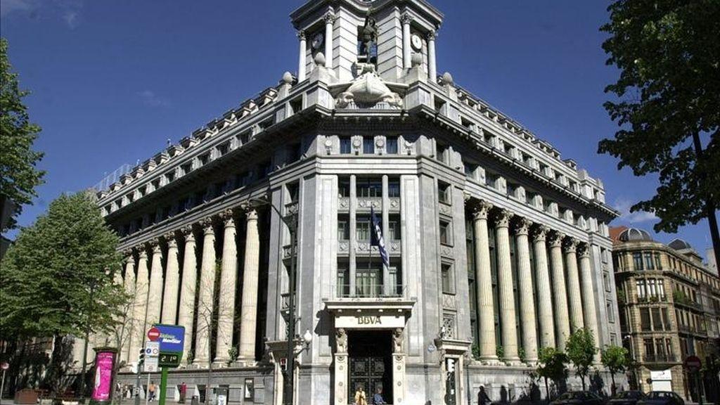 Edificio central del BBVA en la Gran Vía bilbaína. EFE/Archivo